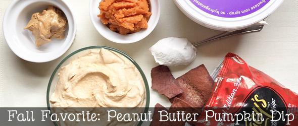 Peanut butter pumpkin dip @ginaekirk