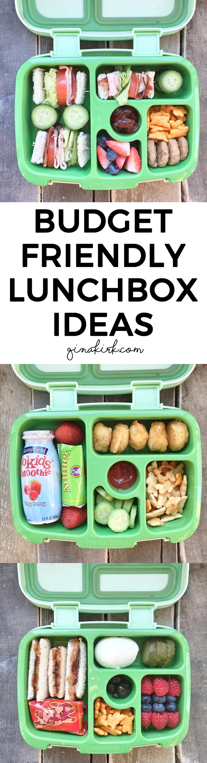 Budget friendly lunchbox ideas - GinaKirk.com - @ginaekirk