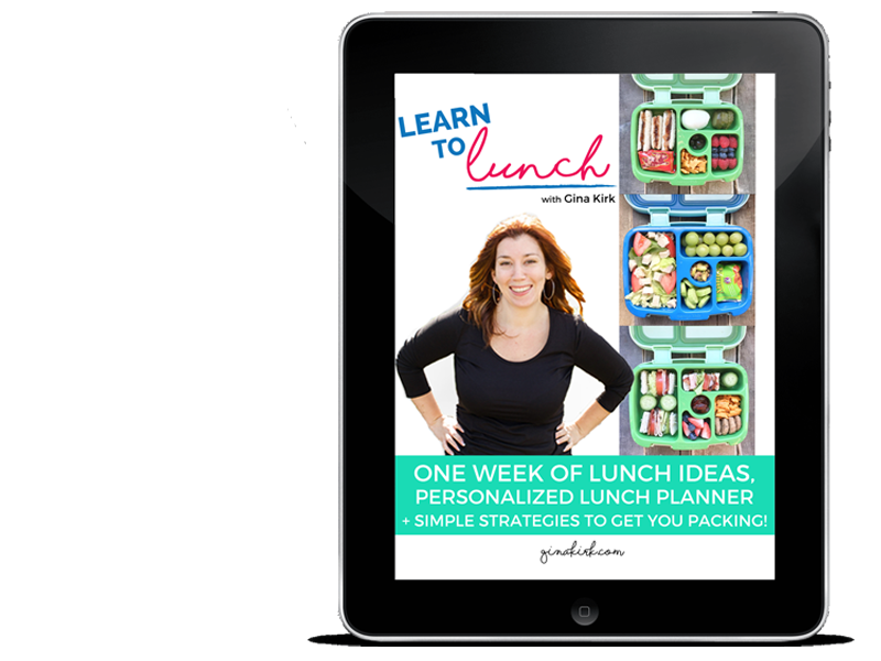LEARN TO LUNCH WITH GINA KIRK