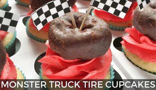 Monster Truck Tire Cupcakes @ginaekirk GinaKirk.com