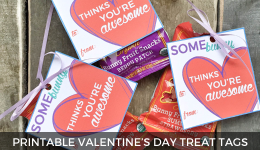 Free Printable Valentine's Day Treat Tags @ginaekirk GinaKirk.com