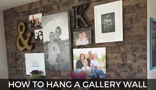 How to hang the perfect gallery wall! GinaKirk.com