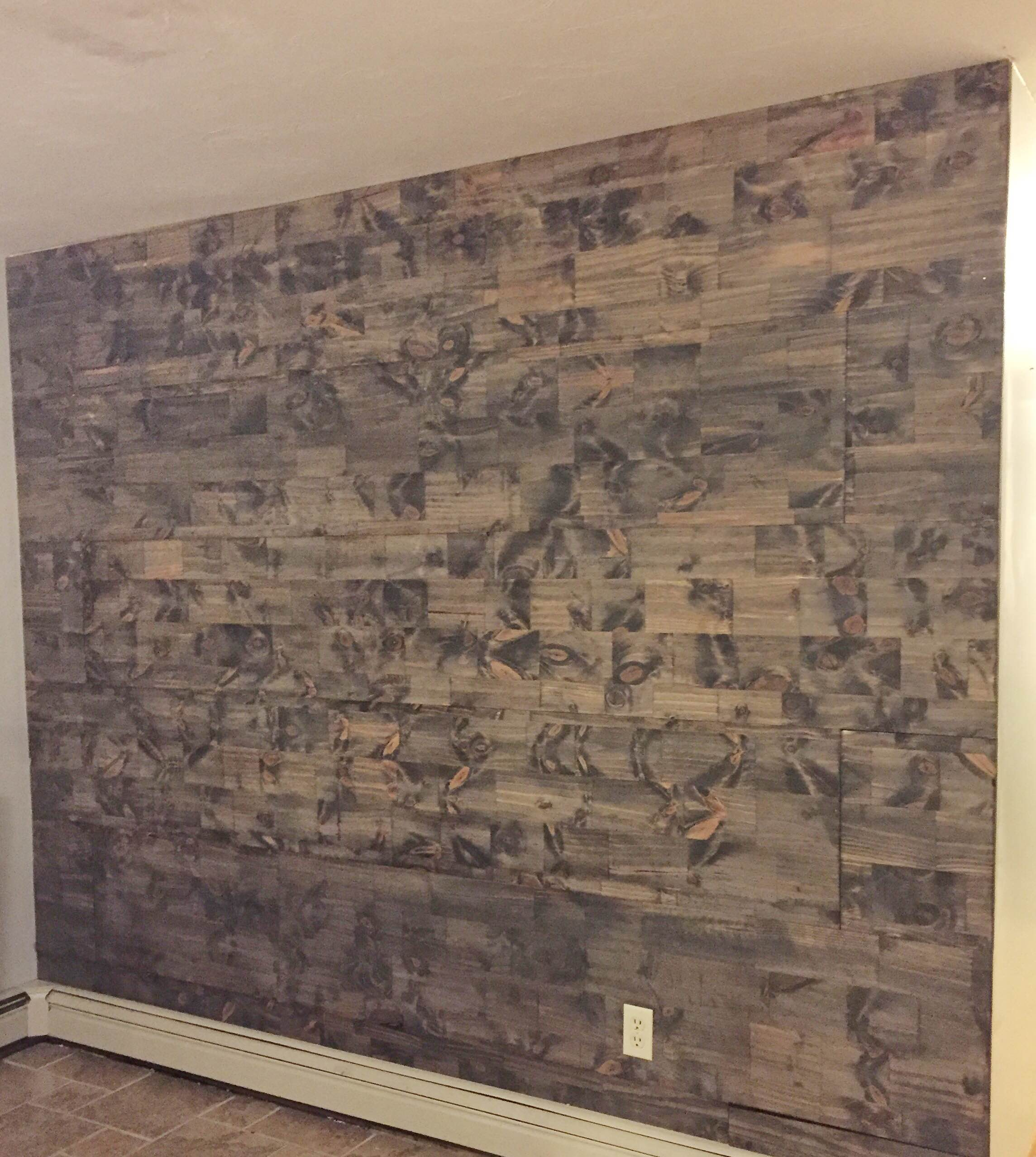 How to fake a reclaimed wood wall for What is faux wood