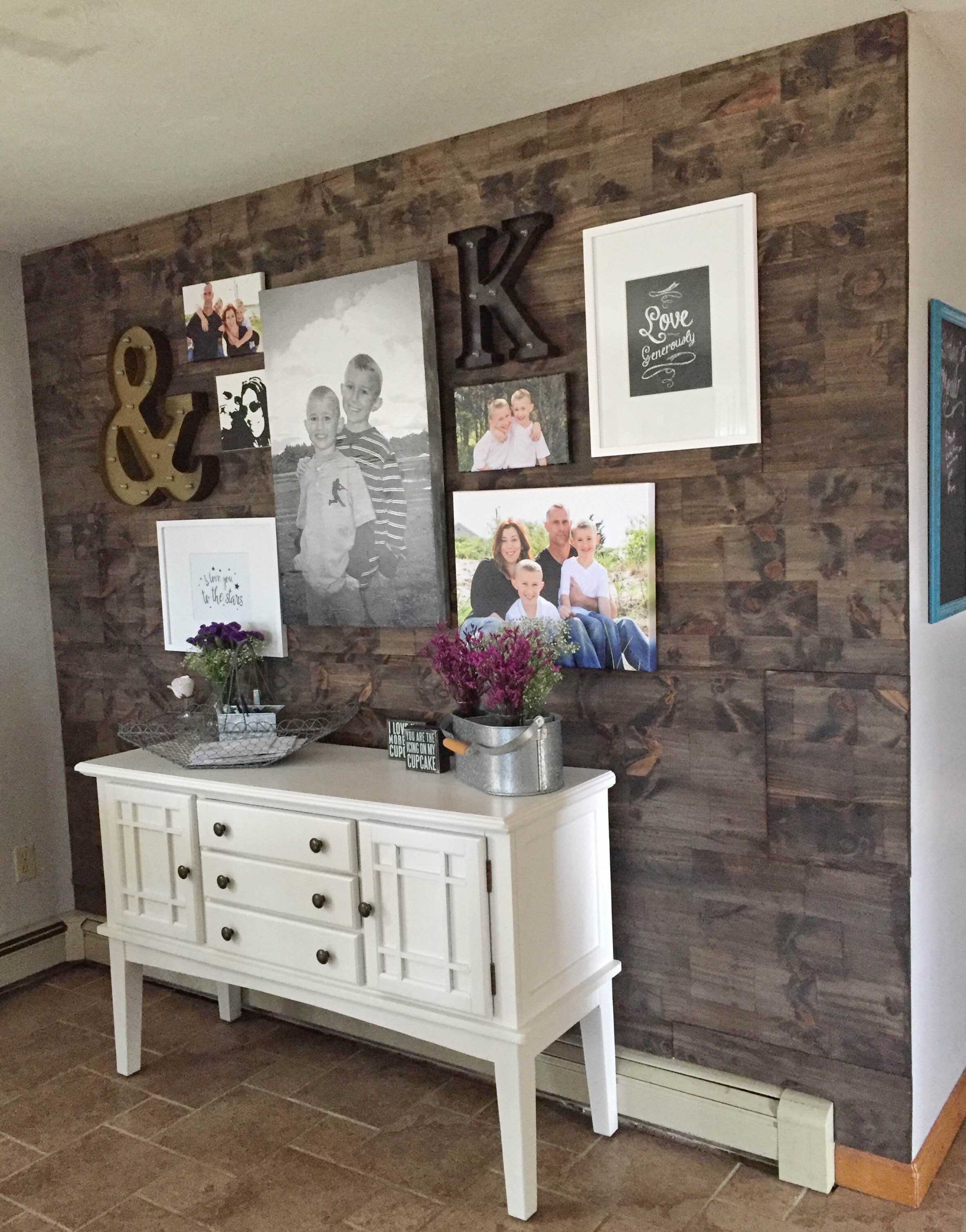 Design Wood Accent Wall how to fake a reclaimed wood wall accent faux diy