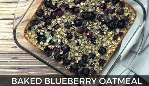 Dairy Free Blueberry Baked Oatmeal