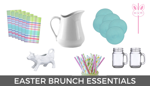 Easter brunch essentials | Easter morning brunch | Easter tablescape | Easter breakfast ideas | GinaKirk.com @ginaekirk