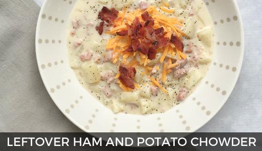 Leftover makeover: Ham and potato chowder | Leftover ham | Potato chowder | Easy dinner ideas | GinaKirk.com @ginaekirk