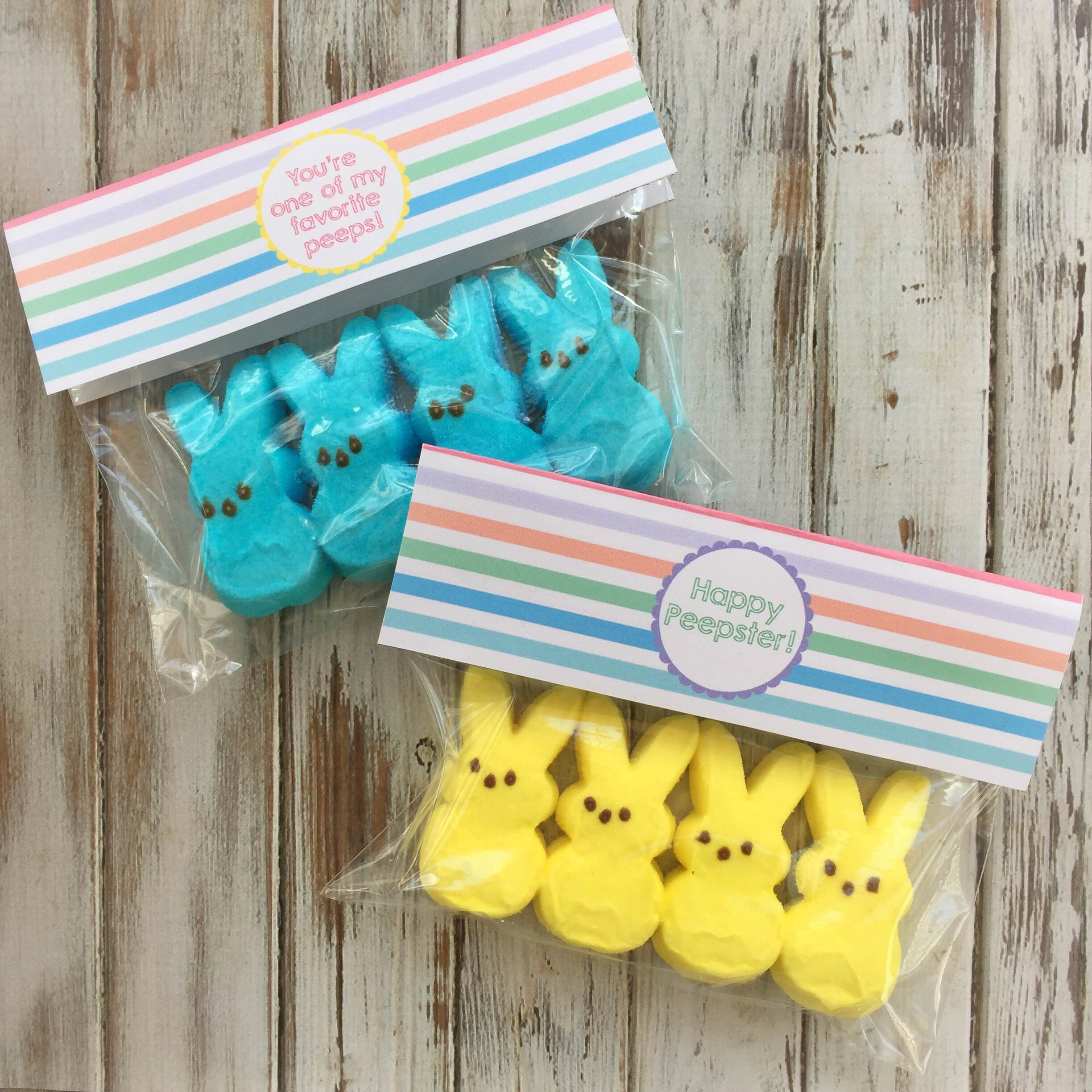 Easter printables | Easter treat tags | Annie's bunny snack tags | Easter party favors | GinaKirk.com @ginaekirk