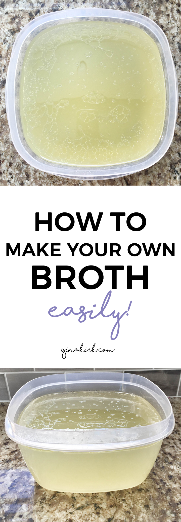 How to make your own broth | meat broth recipe | chicken broth recipe | easy chicken broth! | GinaKirk.com @ginaekirk