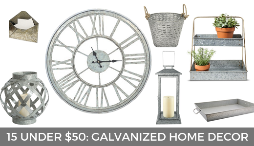 15 under $50: galvanized home decor