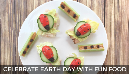 Celebrate Earth Day with fun food | Fun food ideas for kids | Spring food art fun | Earth Day celebration | GinaKirk.com