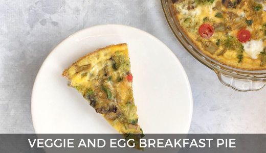 Egg & veggie breakfast pie | Make ahead breakfast ideas | Healthy high protein breakfast recipe | GinaKirk.com @ginaekirk