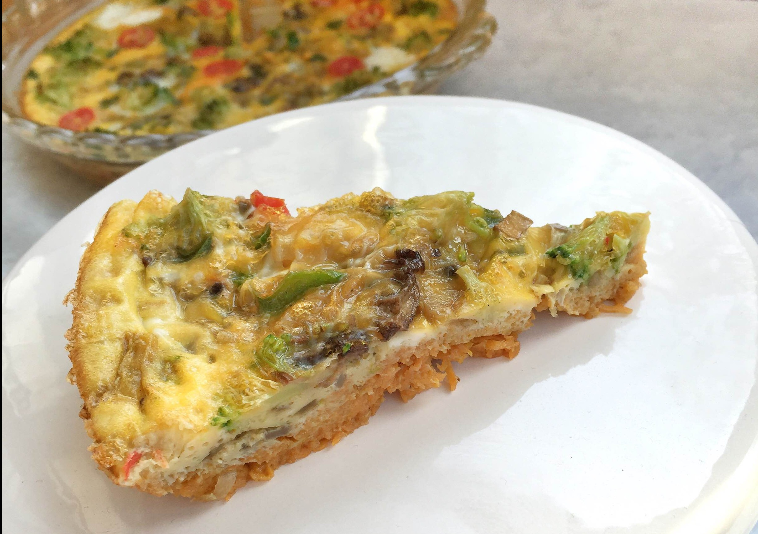 Egg & veggie breakfast pie | Make ahead breakfast ideas | Healthy high protein breakfast recipe | GinaKirk.com @ginaekirk