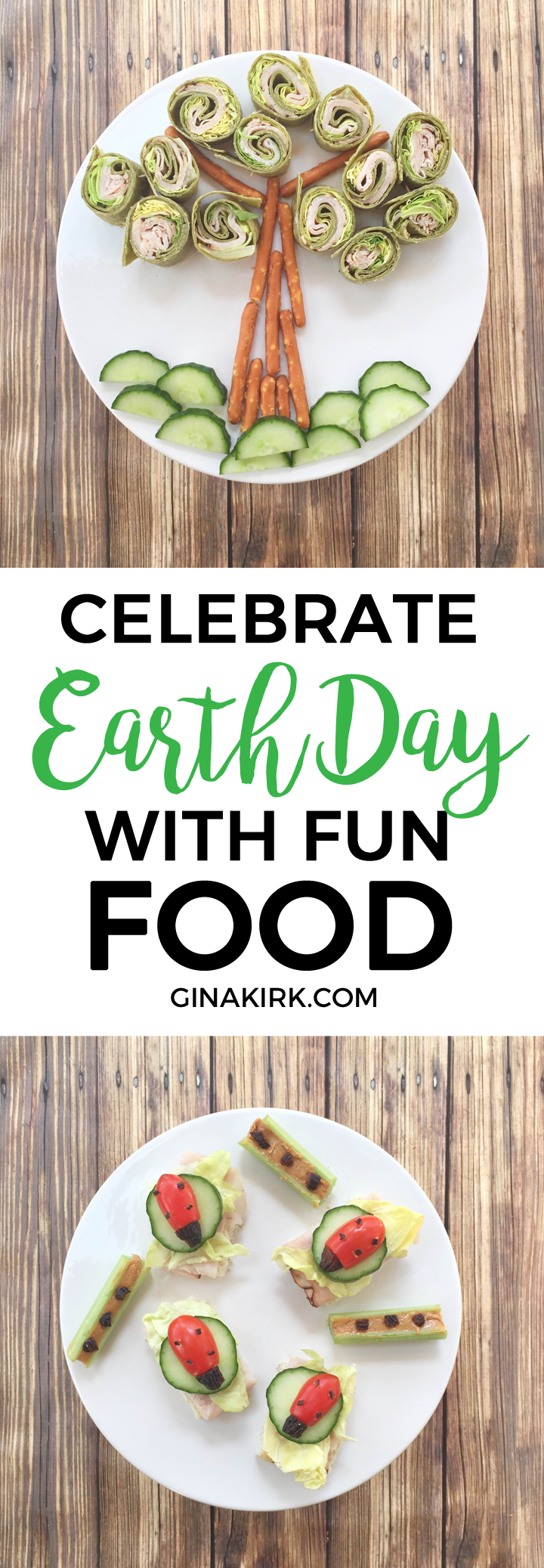 Celebrate Earth Day with fun food | Fun food ideas for kids | Spring food art fun | Earth Day celebration | GinaKirk.com