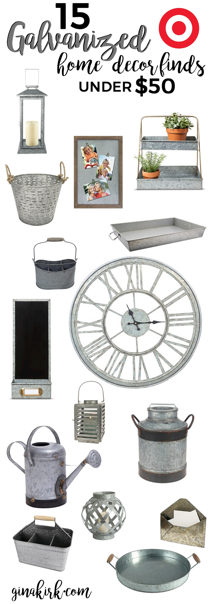 15 under 50 galvanized home decor for Home decorations at target