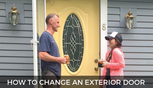 How to change an exterior door | Yellow front door before and after | #SToKCoffee #cbias #ad