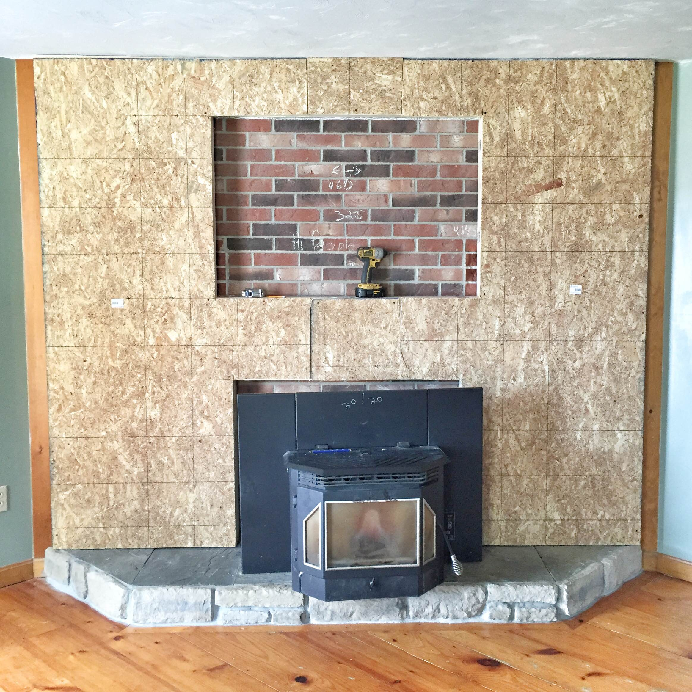 stone veneer fireplace our brick fireplace makeover