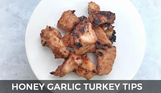 Honey garlic turkey tips | Summer grilling tips | Marinated turkey on the grill recipes! GinaKirk.com @ginaekirk