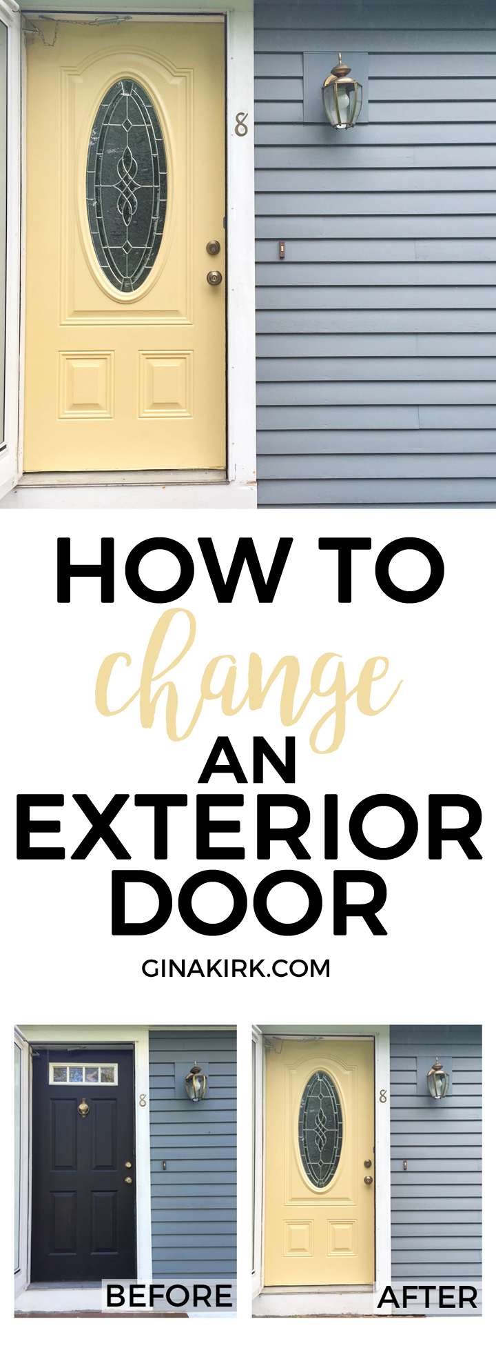 How to change an exterior door for Change exterior of house