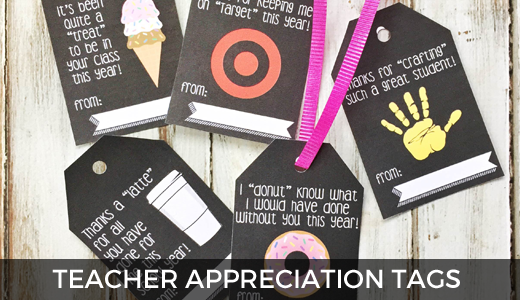 Free printable teacher gift tags | Teacher appreciation week ideas | Teacher gifts | Free Printable Gift tags | GinaKirk.com @ginaekirk