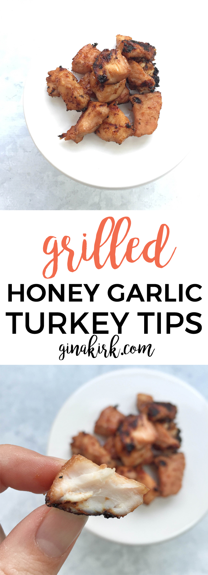 Honey garlic turkey tips | Summer grilling tips | Marinated turkey on the grill recipes! GinaKirk.com @ginaekirk