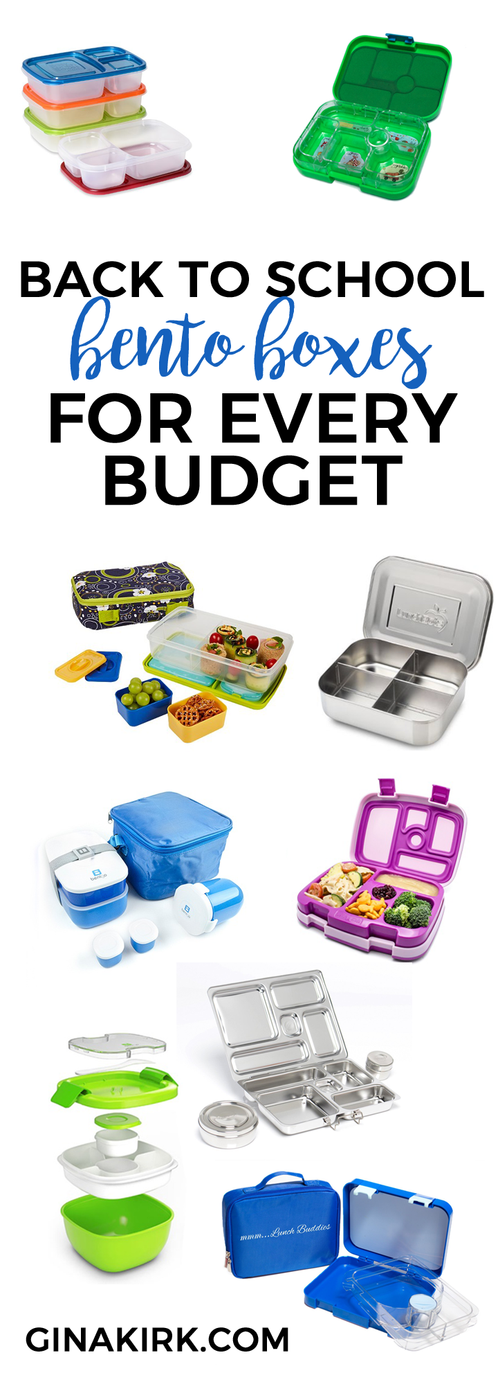 Back to school bento boxes for every budget GinaKirk.com