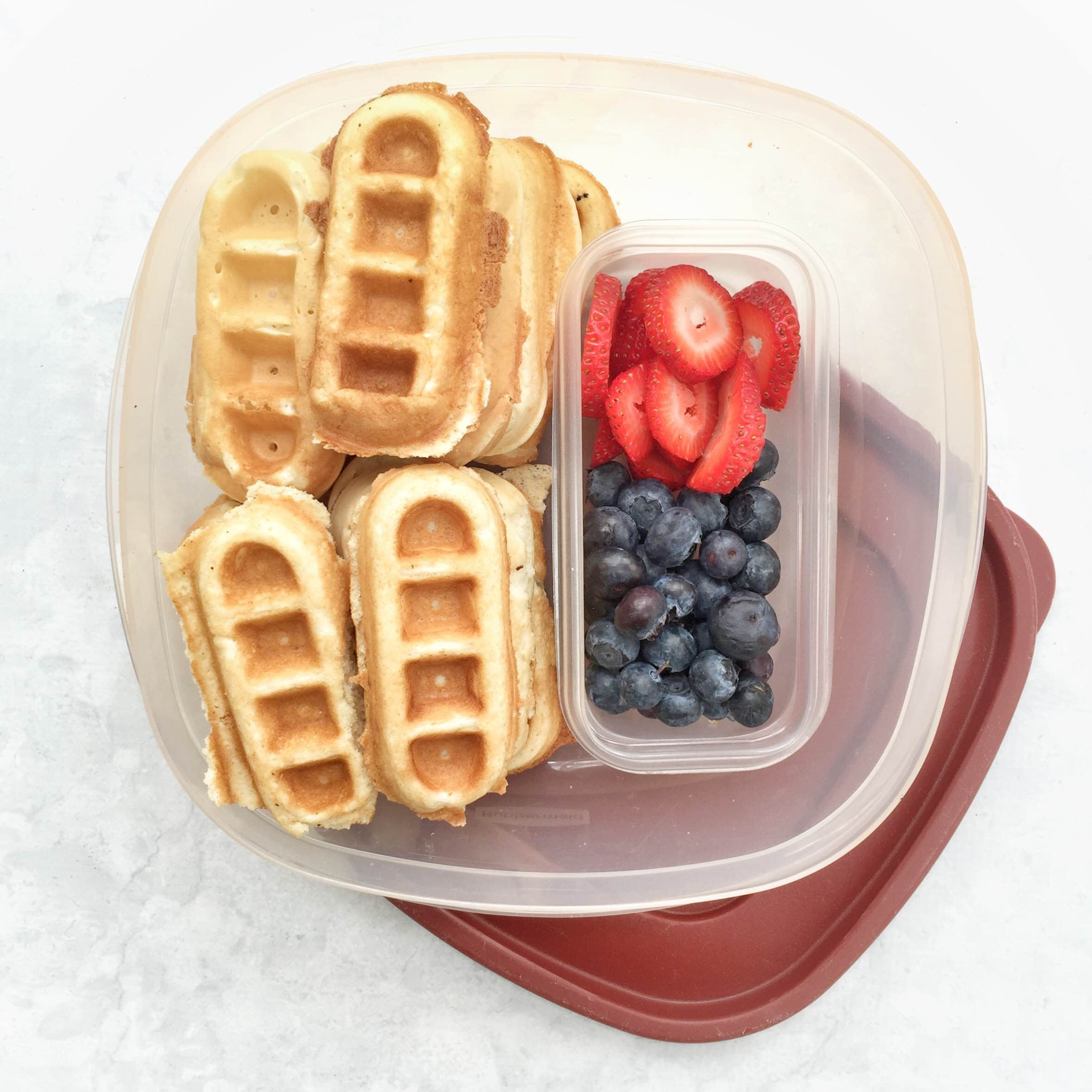 How to make breakfast more fun with a weekday waffle bar! Fun breakfast idea for kids or adults. GinaKirk.com @ginaekirk